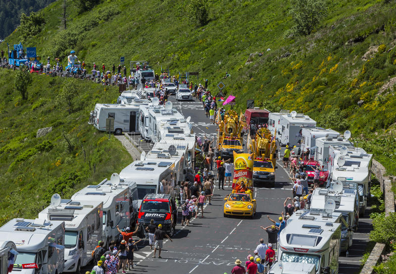 Mc Cain Caravan - Tour de France 2016 photographie stock libre de droits