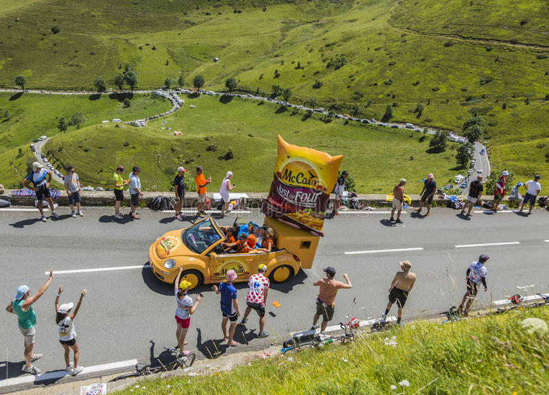 2016 Tour de France Alps week- vehicle supported TdF road