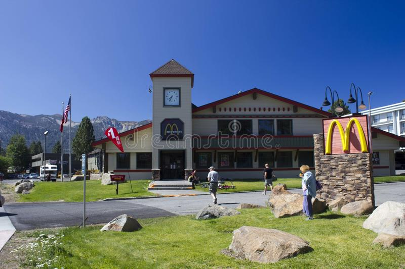 Mc Donald in Mammoth Lakes. The Mc Donald in Mammoth Lakes (United States, California, near the Yosemite National Park) merge with the contest, it is similar to stock photo