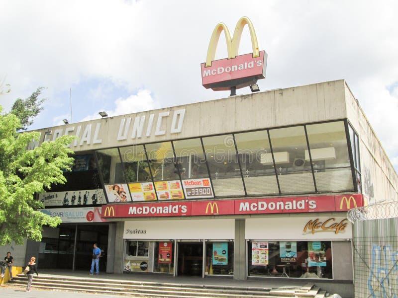 Mc Donald`s fast food restaurant, at Centro Comercial Unico Shopping Center, near Chacaito Boulevard, Caracas, Venezuela.  royalty free stock photos