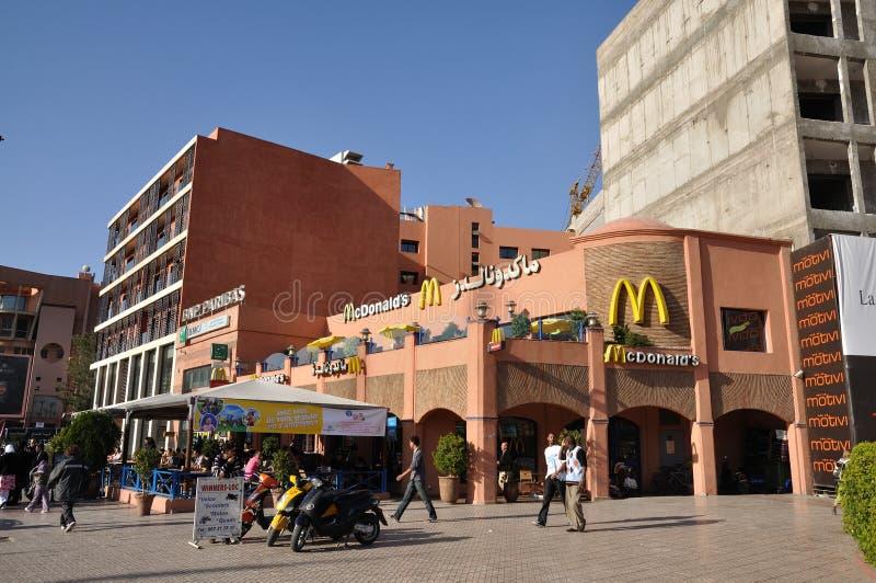 Mc Donalds in Marrakesch lizenzfreies stockfoto