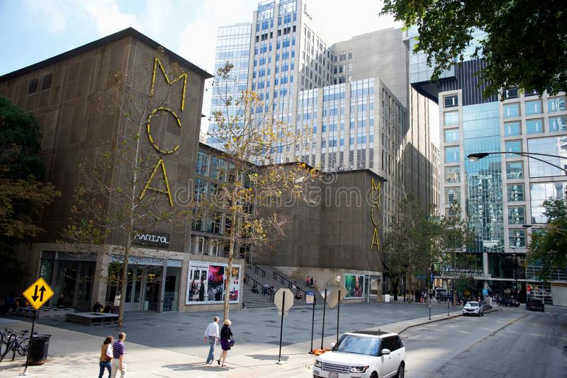 MCA当代艺术博物馆芝加哥,伊利诺伊 免版税库存图片