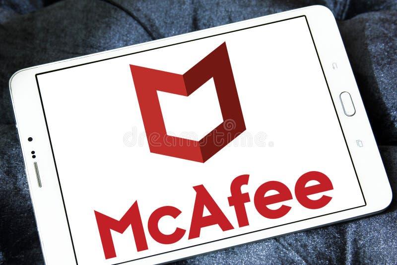 McAfee-Firmenlogo stockfotos