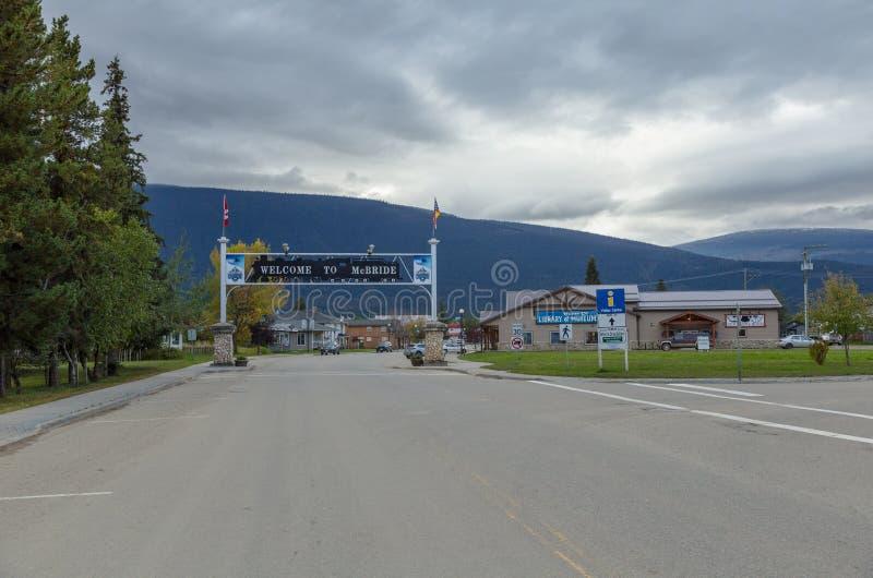 McBride in British Columbia. McBRIDE SEPTEMBER 2018: McBride in British Columbia, Canada along Highway 16 stock photo