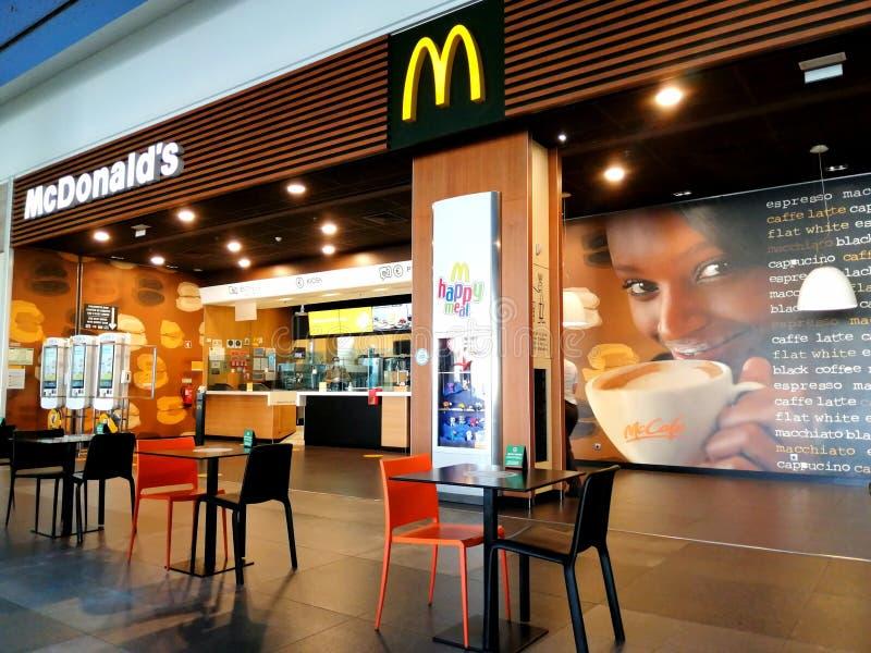 McCafe coffee shop royalty free stock photos