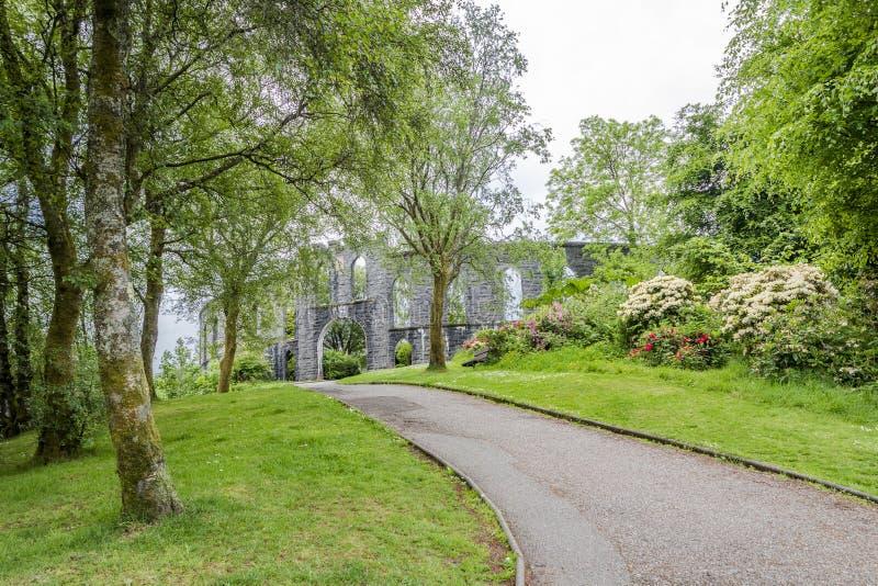 McCaig` s Toren in Oban, Schotland stock afbeeldingen