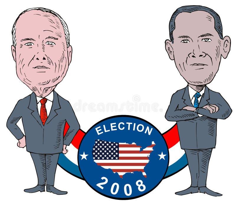 mccain Obama ilustracja wektor