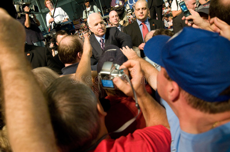 McCain with Supporters 2 stock photo