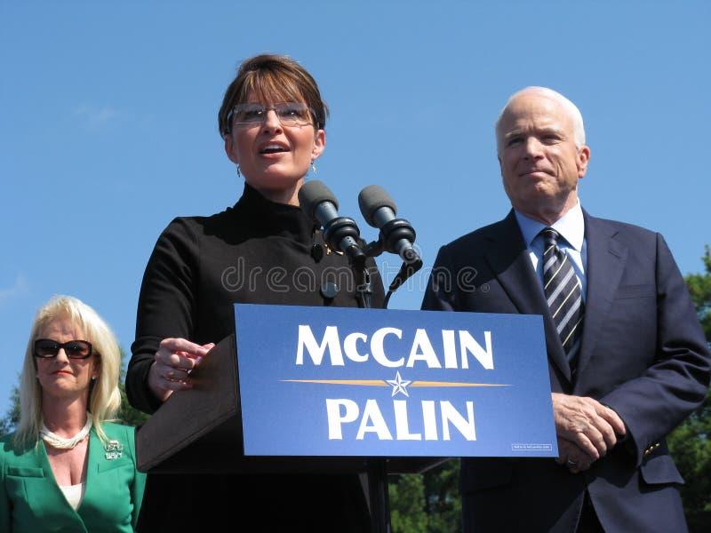 McCains e Sarah Palin immagini stock libere da diritti
