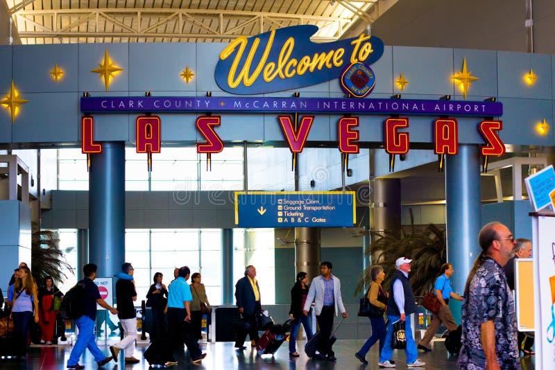 McCarran-Flughafen Vegas stockbilder