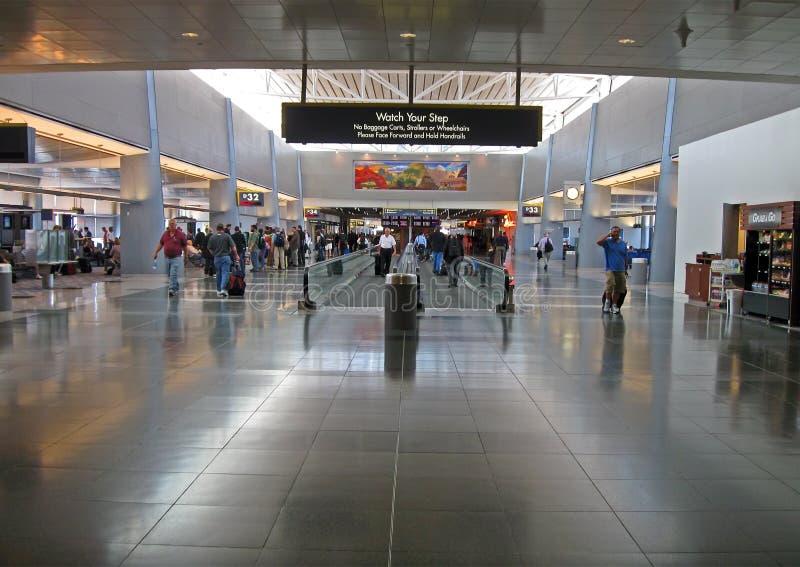 McCarran international airport interior, Las Vegas, Nevada, USA stock photo