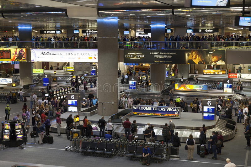 mcCarran lotnisko międzynarodowe w Las Vegas, NV na Apri 01, 2013 obrazy royalty free
