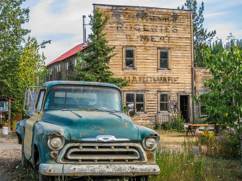 McCharthy Wrangell-St Elias National Park, Alaska arkivbilder