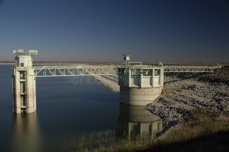 mcconaughy水坝的湖 免版税库存图片
