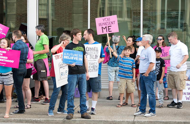 McConnellprotest 013 royalty-vrije stock foto's
