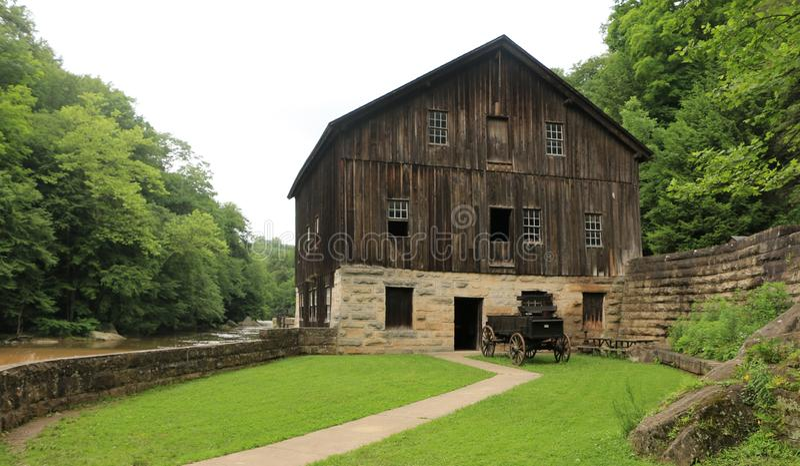 McConnells-Mühlnationalpark - Portersville, Pennsylvania stockfoto