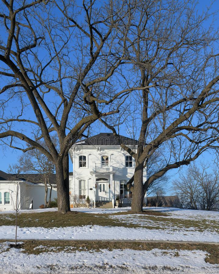 McCord House in Chicago suburbs. McCord House in Palos Park, Illinois. This building is one of the oldest 1834 in the southwest suburbs of Chicago royalty free stock photo
