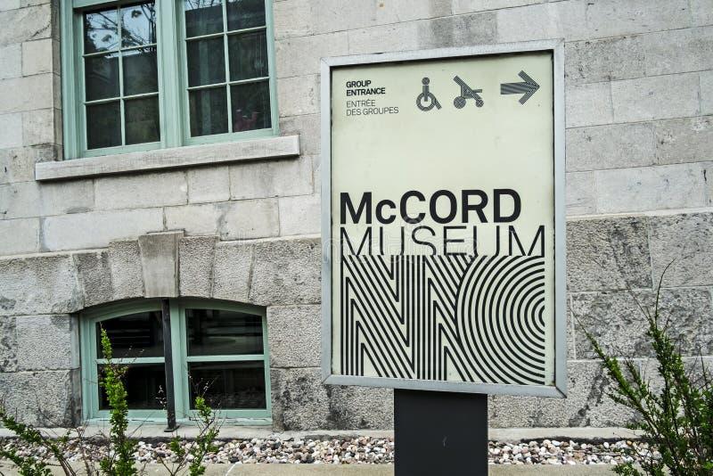 McCord museum arkivfoto