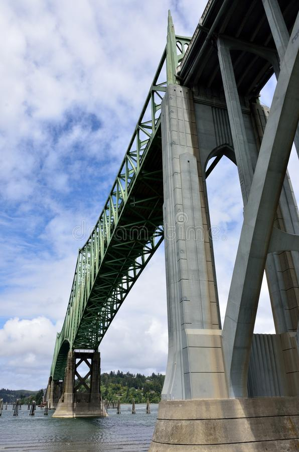 McCullough-Brücke, Nordbiegung, Coos County, Oregon lizenzfreies stockfoto