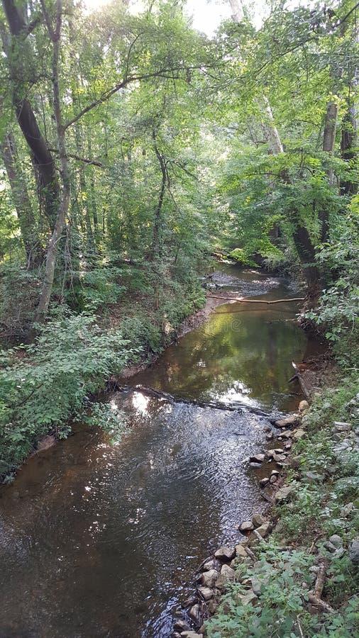 McDaniel-Bauernhof-Park in Duluth Ansicht Georgia - Fluss stockfoto