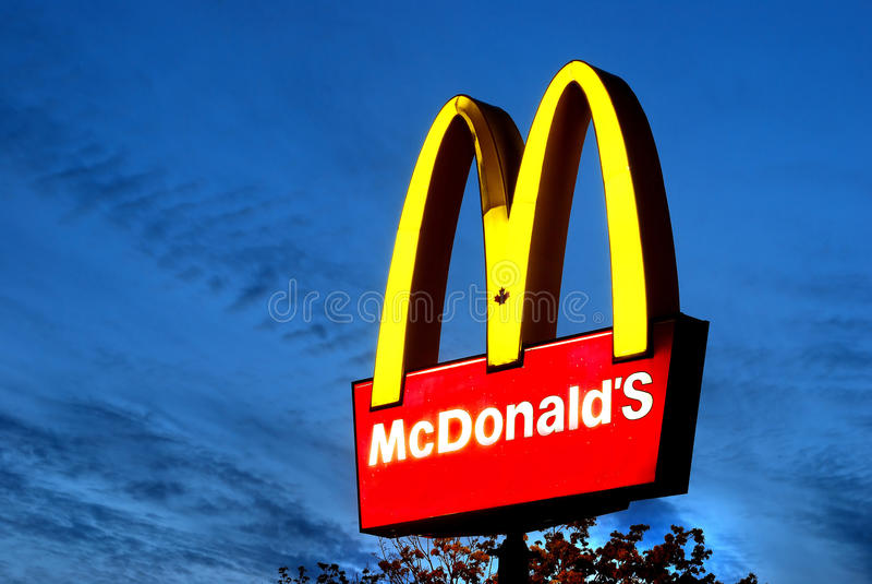 Mcdonald stockbild