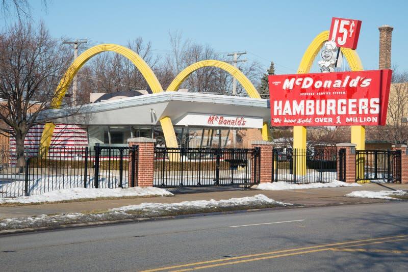 McDonald Żadny 1 sklepu muzeum fotografia royalty free