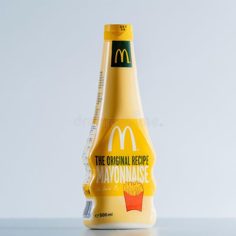 McDonald délicieux la mayonnaise originale de recette image libre de droits