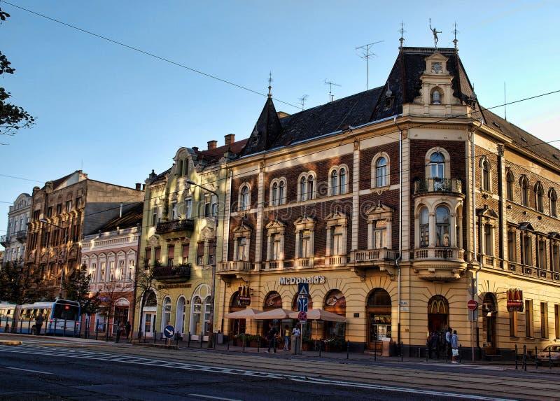 McDonald's a Debrecen fotografia stock libera da diritti