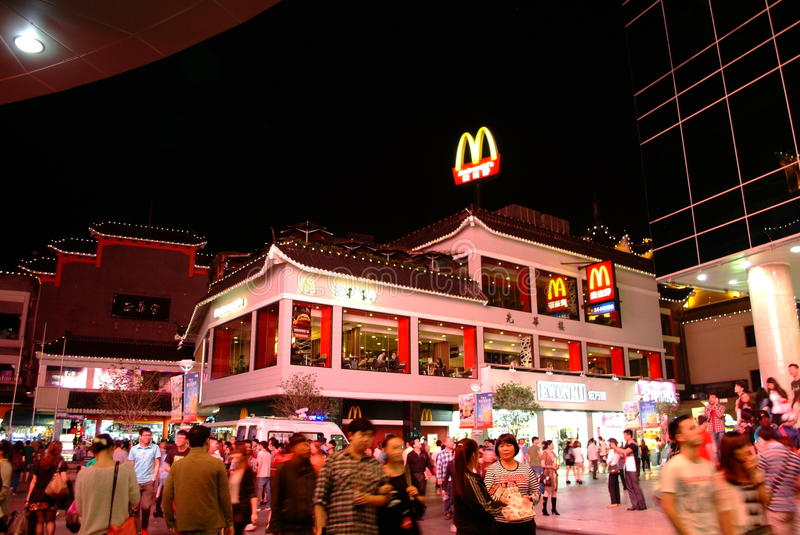 Download McDonald's  In Dongmen Pedestrian Street In Shenzhen, China Editorial Image - Image of china, crowd: 31197880