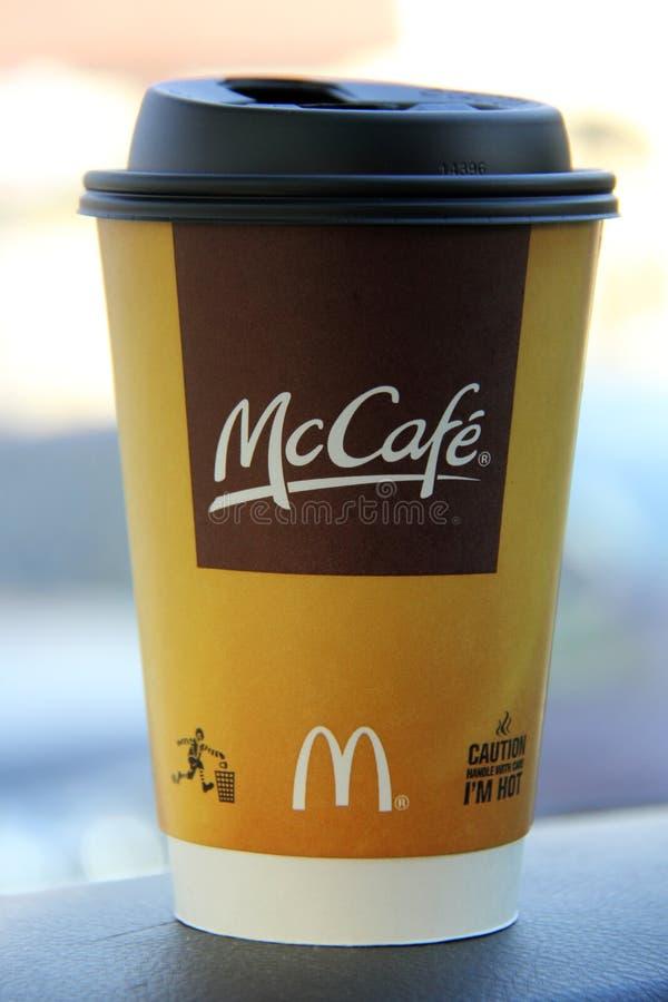 McDonald's McCafe fotografía de archivo