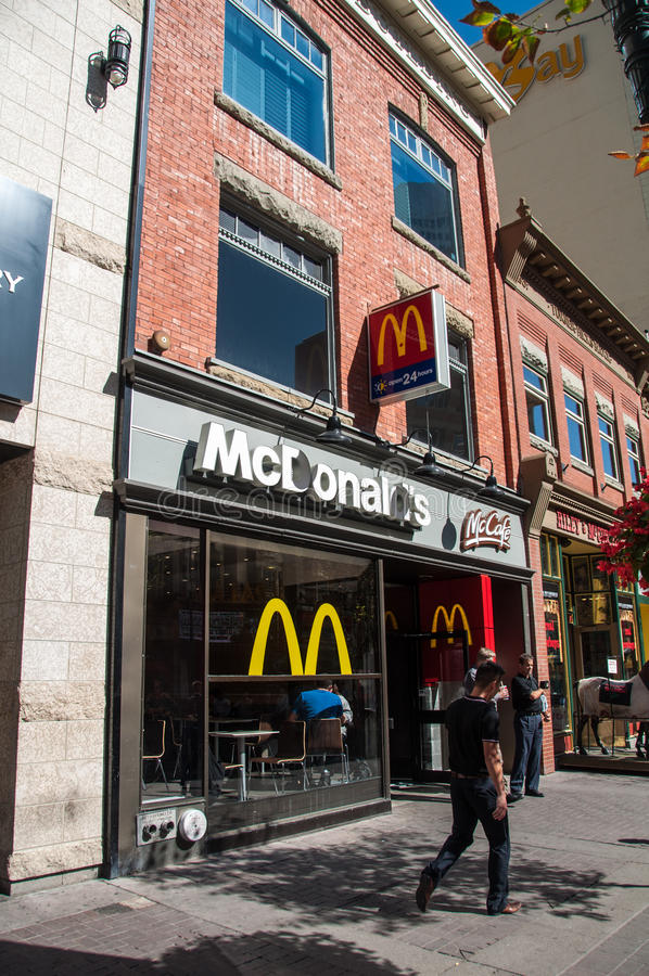 McDonald S McCafe Läge Redaktionell Arkivbild