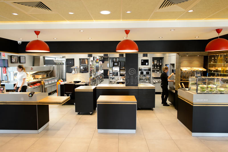 Download McDonaldu0027s Restaurant Interior Editorial Photo   Image Of  Franchise, Europe: 65544841