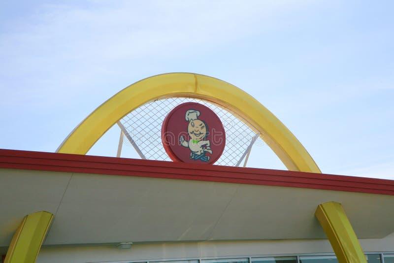 McDonald-` s Resturant Logo lizenzfreie stockfotografie