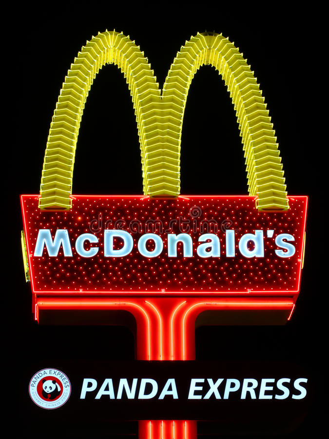 McDonald's-Teken in Las Vegas royalty-vrije stock foto's