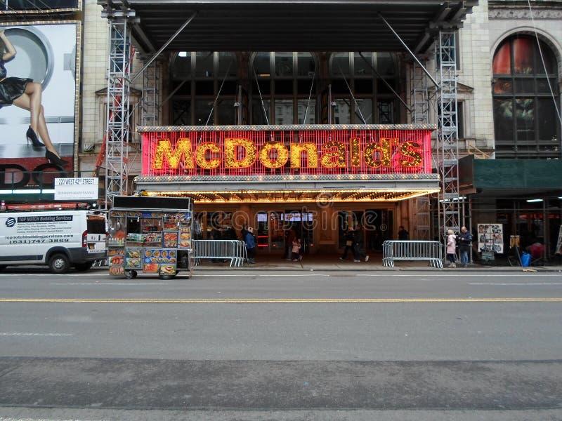 McDonald's, Times Square, Capodanno immagine stock libera da diritti