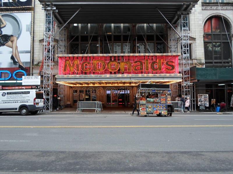 McDonald's, Times Square, Capodanno fotografia stock libera da diritti
