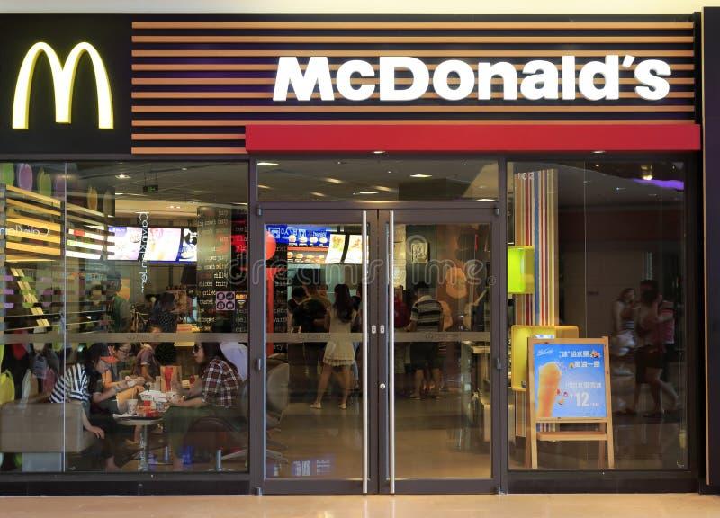 Mcdonaldbuitenkant stock afbeeldingen