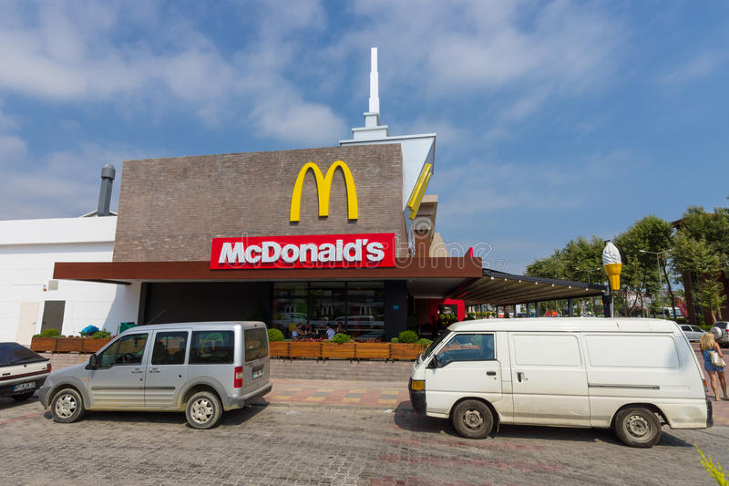 Mcdonaldrestaurant royalty-vrije stock foto's