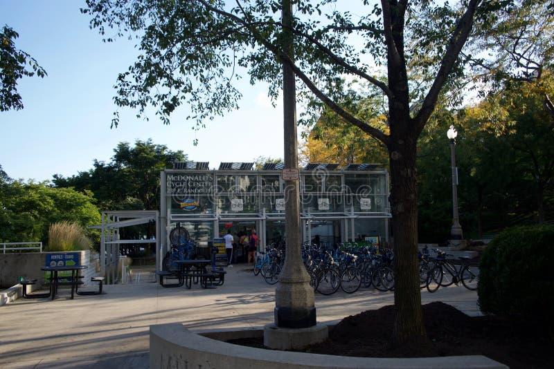 McDonalds周期中心,芝加哥,伊利诺伊 库存照片