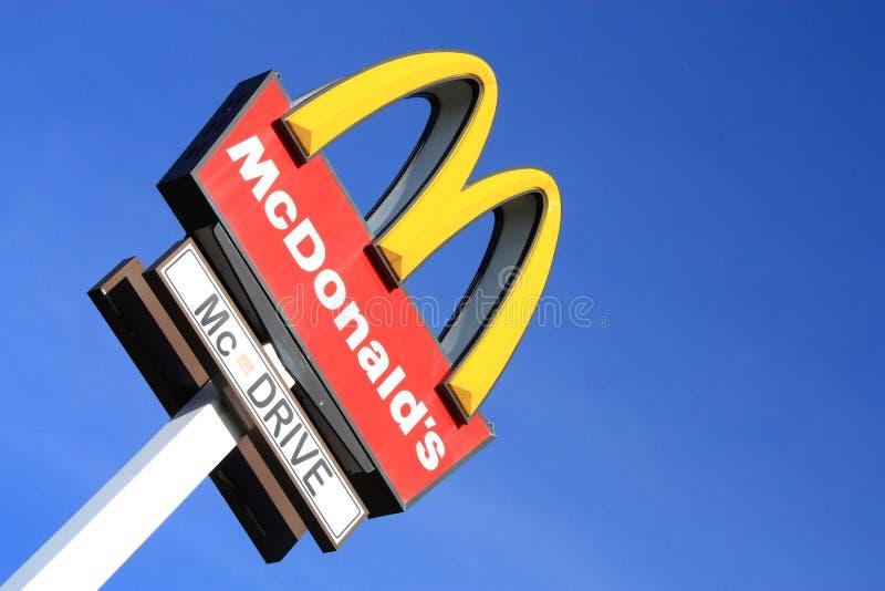 mcdonalds σημάδι στοκ φωτογραφία με δικαίωμα ελεύθερης χρήσης