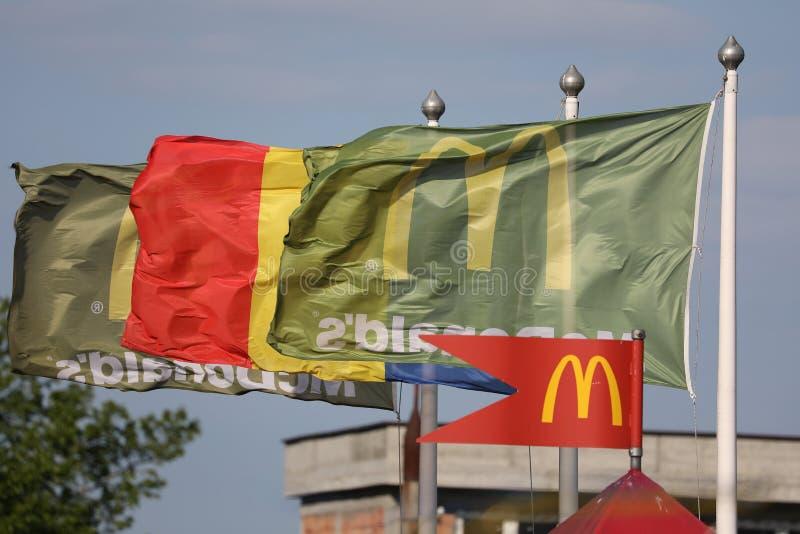 McDonalds flags stock photos