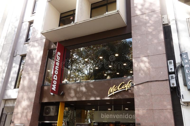 A McDonalds in Montevideo, Uruguay stock photo
