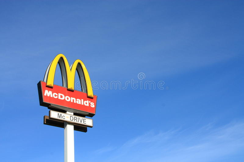 Download McDonalds sign editorial stock image. Image of credit - 18467524
