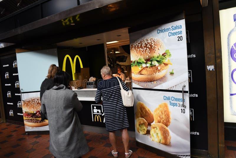 McDONALS FAST FOOD RESTAURANT DENMARK. Copenhagen/Denmark 8th.September 2018._McDonalds fast food restaurant in Copenhagen, Denmark . Photo.Francis Joseph Dean stock image