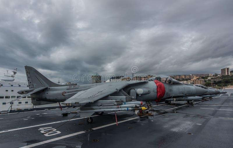 McDonnell Douglas AV - 8B+-Italiaanse Plunderaar II, royalty-vrije stock foto's
