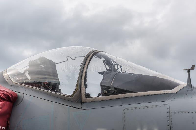 McDonnell Douglas AV - 8B+-Plunderaar II, Italiaanse cockpit royalty-vrije stock foto's
