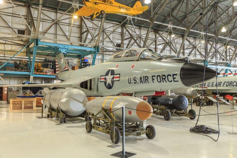 McDonnell Douglas F-101 voodoo royaltyfri bild