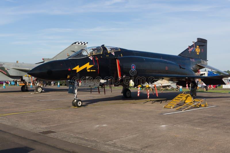 McDonnell Douglas Phantom II Mike nero fotografie stock libere da diritti