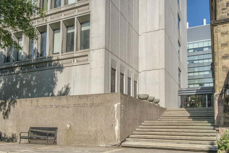 McGill Universitaire Faculteit van Wet royalty-vrije stock afbeelding