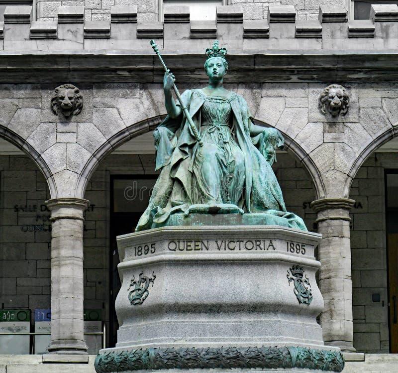 McGill universitet, staty av drottningen Victoria royaltyfri foto